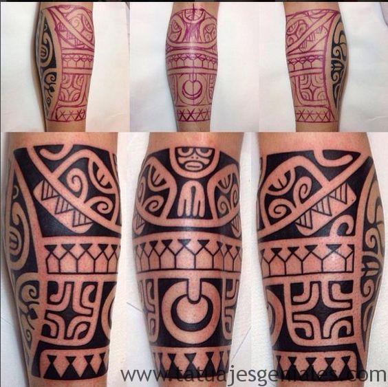 tatuajes pierna tribales 6