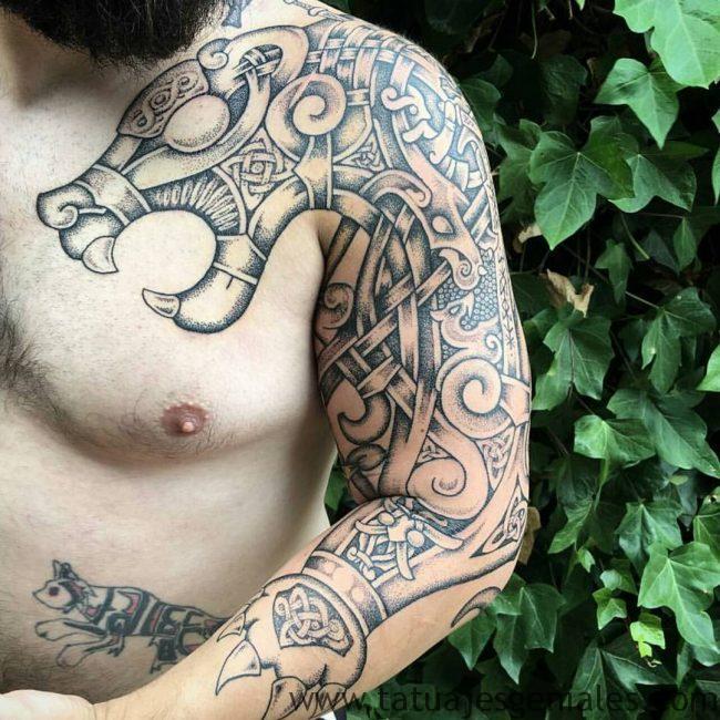 tatuajes vikingos brazo 3