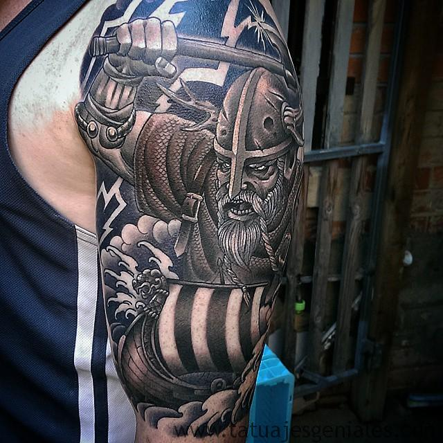 tatuajes vikingos brazo 6 -