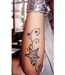 tatuajes de estrellas para mujeres (7)