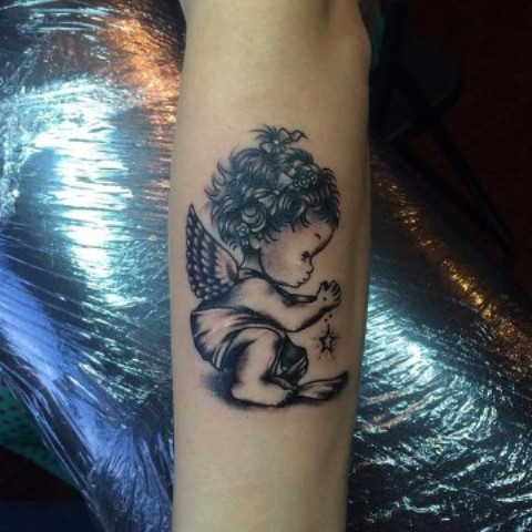 angeles bebes para mujeres 6 - tatuajes de ángeles