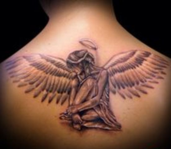 angeles y alas 4 - tatuajes de ángeles
