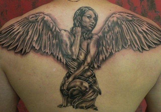 angeles y alas - tatuajes de ángeles