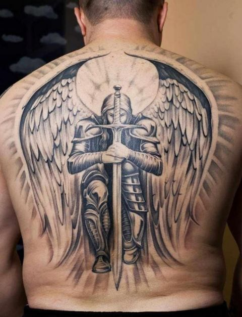 en la espalda 1 1 - tatuajes de ángeles