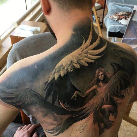 en la espalda 4 1 - tatuajes de ángeles