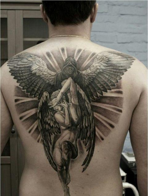en la espalda 5 1 - tatuajes de ángeles