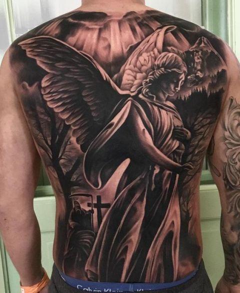 en la espalda 6 1 - tatuajes de ángeles