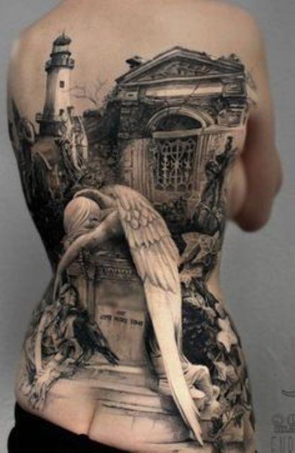 en la espalda 7 1 - tatuajes de ángeles