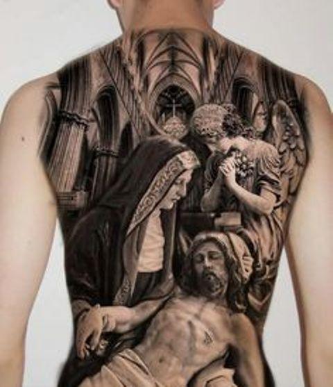 en la espalda 8 1 - tatuajes de ángeles