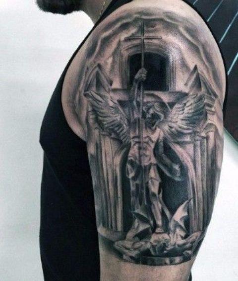 guerrero.jpgs en brazo 12 - tatuajes de ángeles