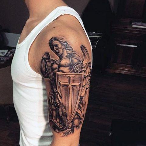 guerrero.jpgs en brazo 7 - tatuajes de ángeles