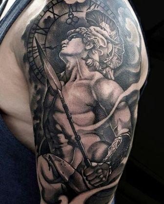 guerrero.jpgs en brazo 9 - tatuajes de ángeles