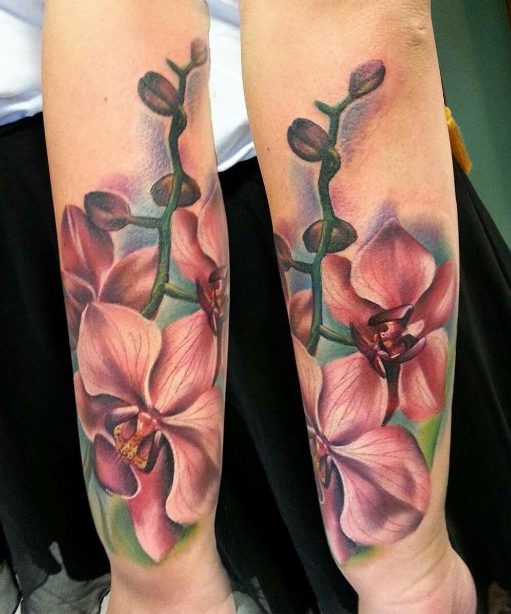 orquideas brazo 8 - tatuajes de orquídeas