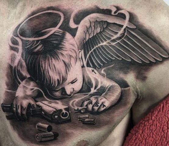 para hombres - tatuajes de ángeles