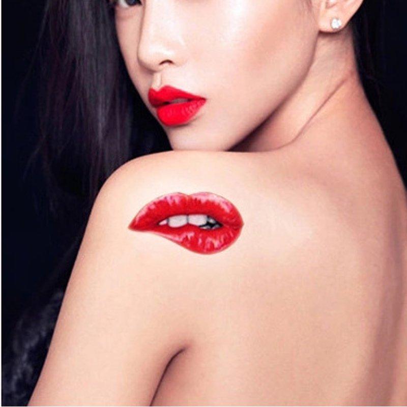 labios rojos rojos 1 - Tatuajes de labios