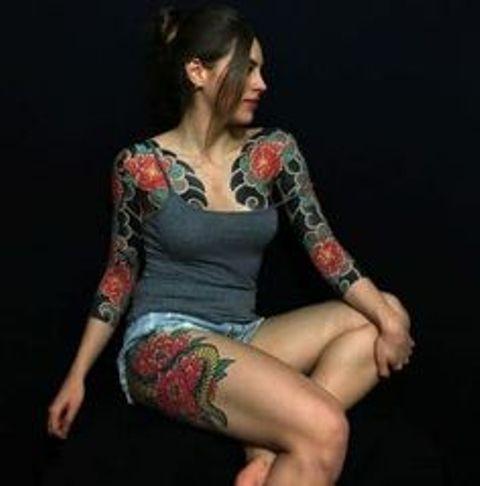 para mujeres 7 - Tatuajes japoneses