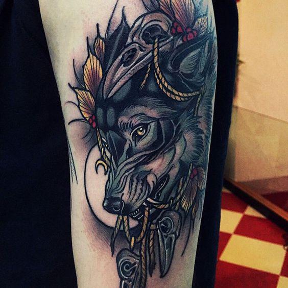 significado del tatuaje de lobo