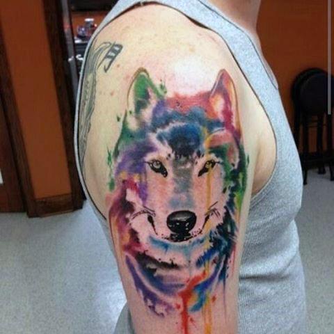 tatuajes de loboen acuarela significado de tatuajes de lobos 2
