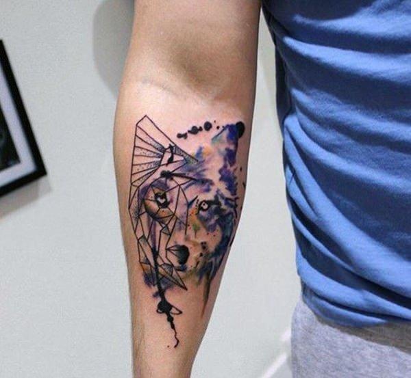 tatuajes de loboen acuarela significado de tatuajes de lobos 3