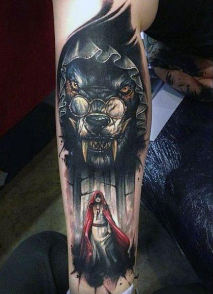 tatuajes de un lobo 1