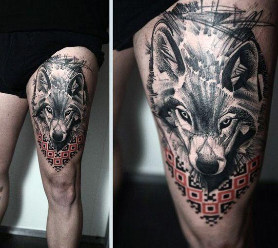 tatuajes de un lobo 3