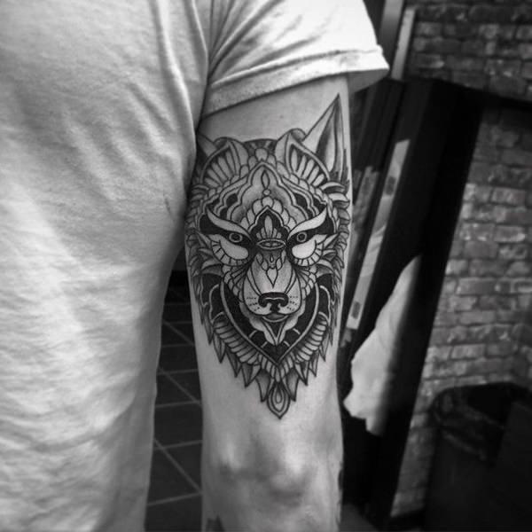 tatuajes de un lobo 6