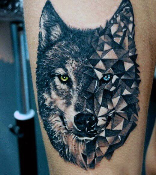 tatuajes lobo geométricos significado tattoo 1