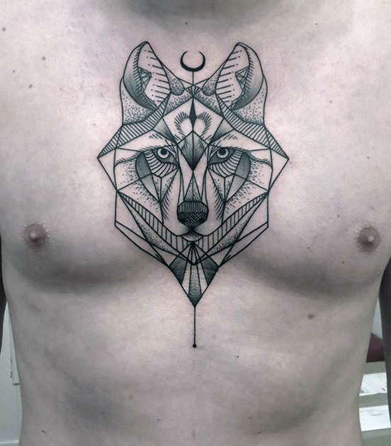 tatuajes lobo geométricos significado tattoo 3