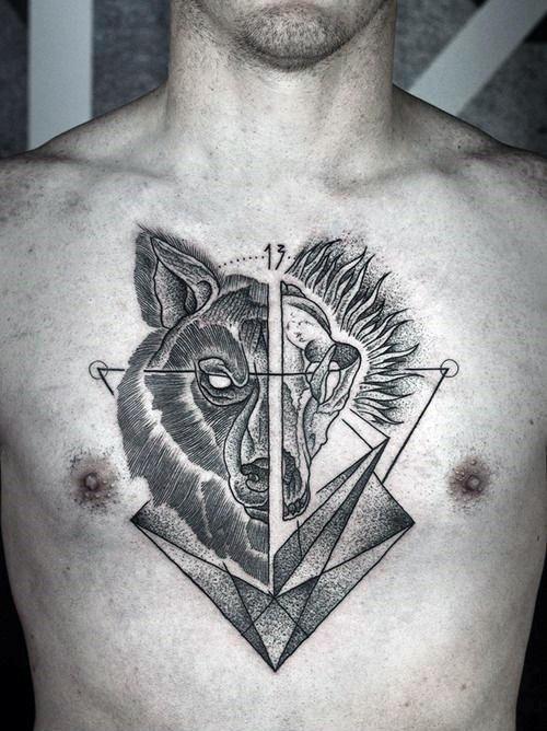 tatuajes lobo geométricos significado tattoo 4