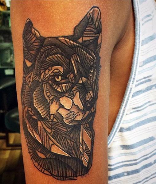 tatuajes lobo geométricos significado tattoo 6