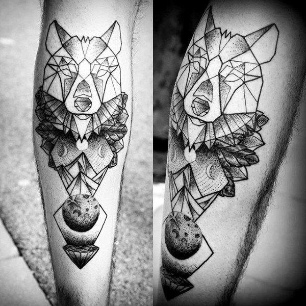 tatuajes lobo geométricos significado tattoo 7
