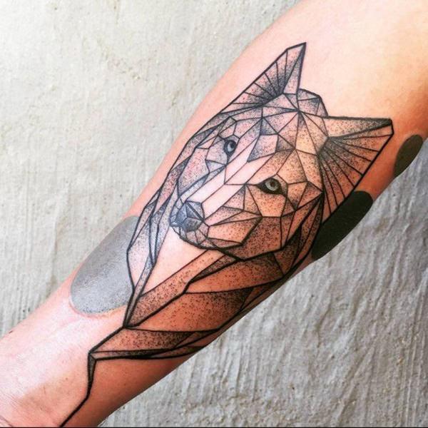 tatuajes lobo geométricos significado tattoo 8