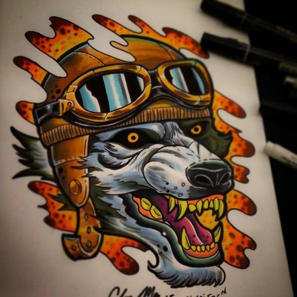 tatuajes lobos feroces significado 2