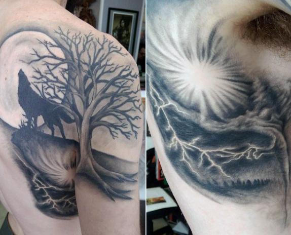 tatuajes lobos hombro 4