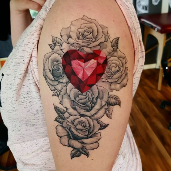 diamantes con rosas 1