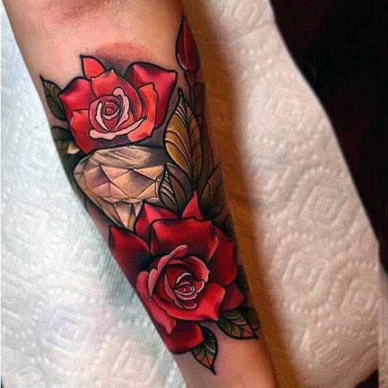 diamantes con rosas 3