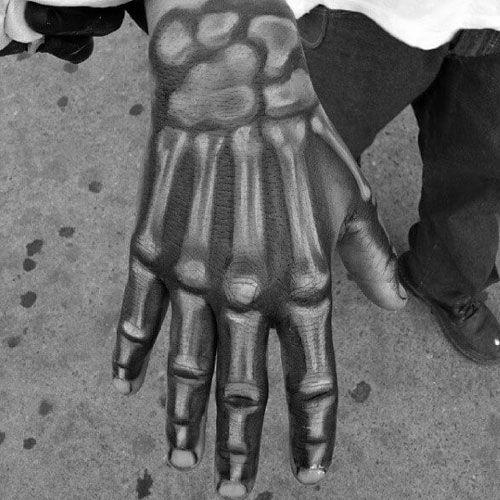 en la mano esqueleto 1