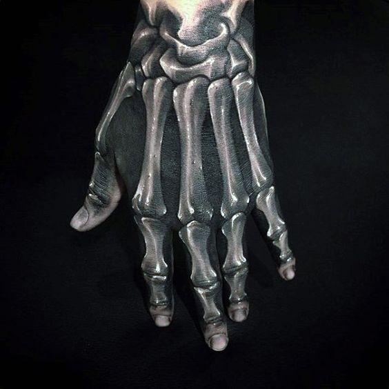 en la mano esqueleto 3