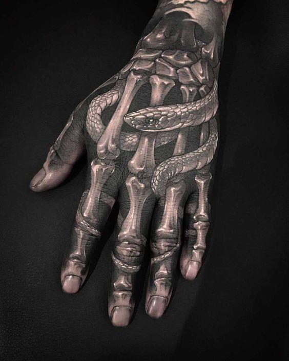 en la mano esqueleto 8