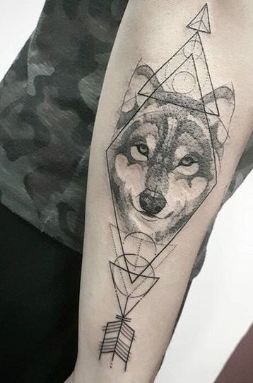 flechas con triangulos 4 - tatuajes de flechas