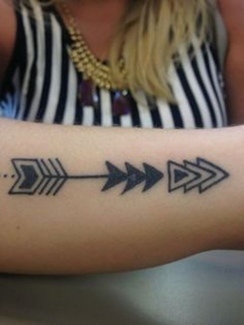 flechas con triangulos - tatuajes de flechas