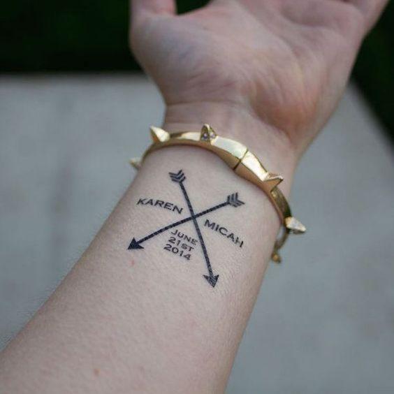 flechas cruzadas 2 - tatuajes de flechas