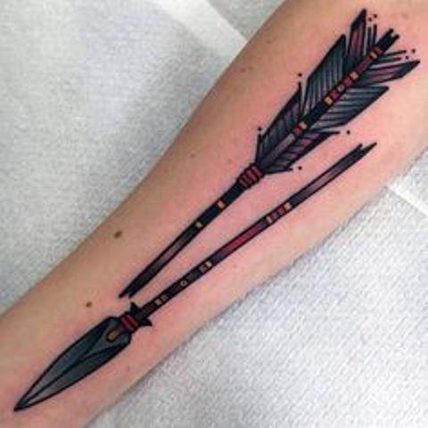 flechas indias 3 - tatuajes de flechas