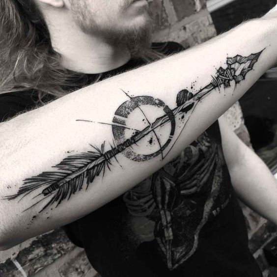 flechas para hombres 9 - tatuajes de flechas