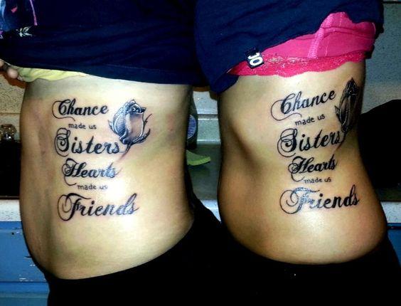 hermanas de frases 3 - tatuajes para hermanas