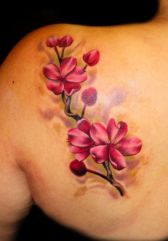 hombro flores