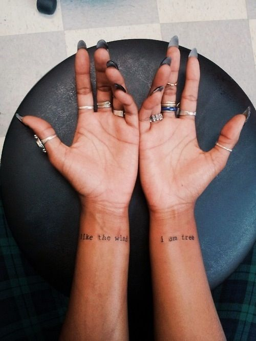 para amigas de frases 3 - Tatuajes para amigas