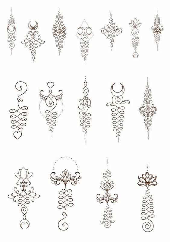 diseños de unalome 2 - tatuajes de unalome