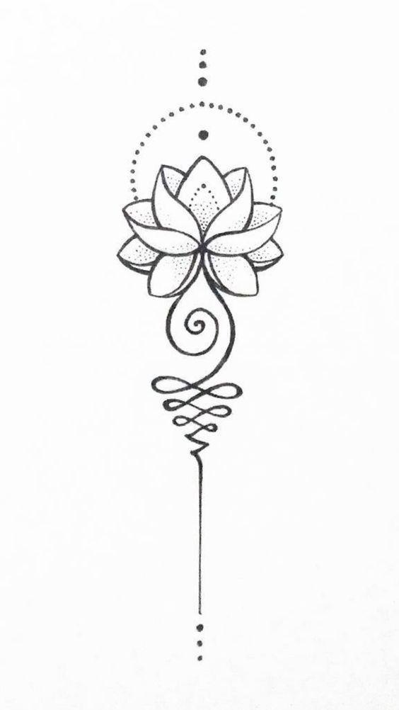 diseños de unalome 3 - tatuajes de unalome