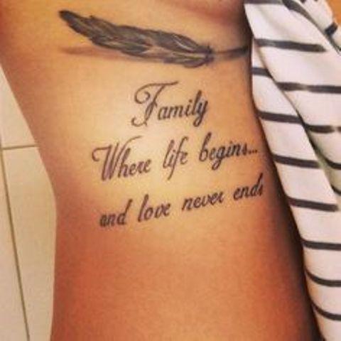 familia con frases 1 - tatuajes de familia